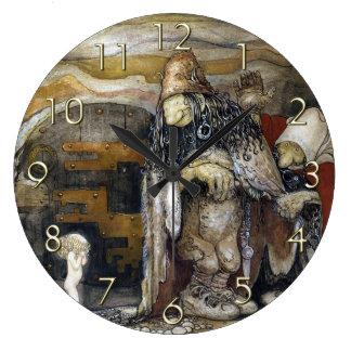 John Bauer Troll Large Clock