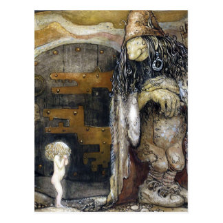 John Bauer Troll Postcard