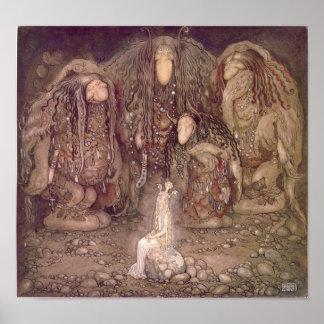 John Bauer - Trolls Poster