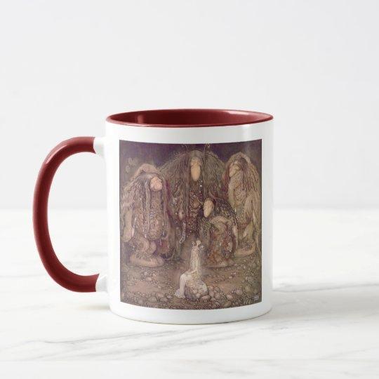 John Bauer - Trolls with an abducted princess Mug