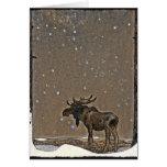 John Bauer's Christmas Moose Greeting Card