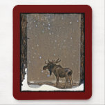 John Bauer's Christmas Moose Mouse Pad