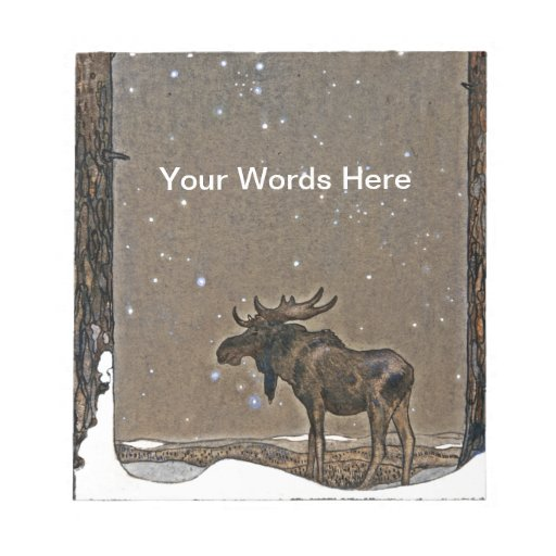 John Bauer's Christmas Moose Scratch Pads