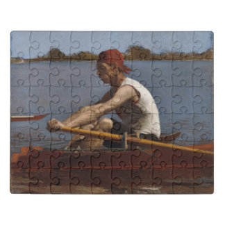 John Biglin in a Single Scull Jigsaw Puzzle