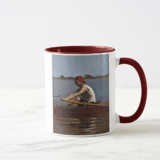 John Biglin in a Single Scull Mug