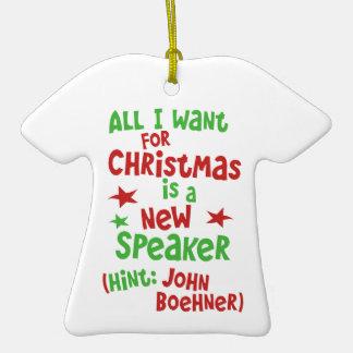 John Boehner as Speaker - Christmas Present Christmas Tree Ornaments