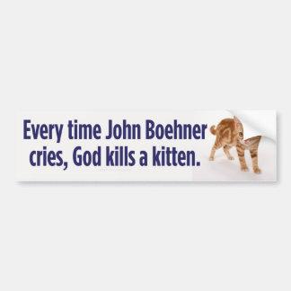 John Boehner Cries Bumper Sticker Car Bumper Sticker