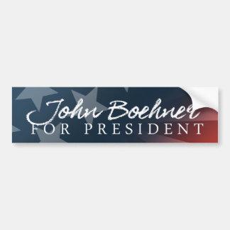 John Boehner For President Autograph White Bumper  Bumper Sticker