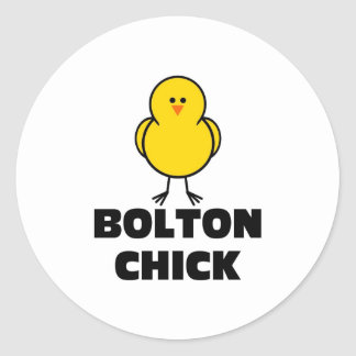 John Bolton Chick Classic Round Sticker