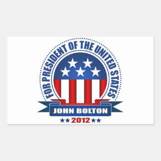 John Bolton Rectangular Stickers