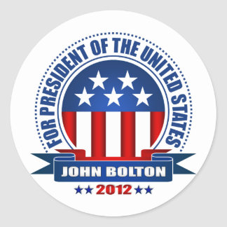 John Bolton Round Sticker