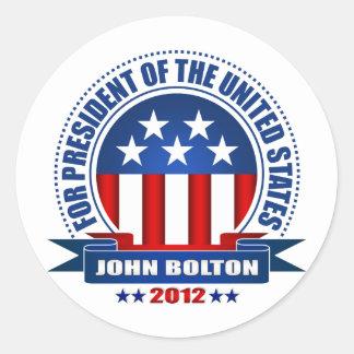 John Bolton Round Stickers