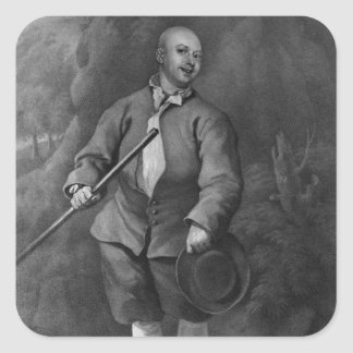 John Broughton, engraved by F. Ross, 1842 Square Sticker