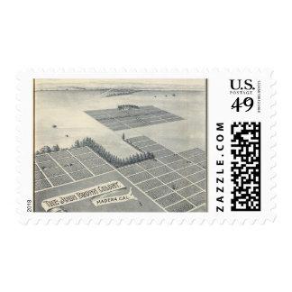 John Brown Colony, Madera, California Postage Stamp