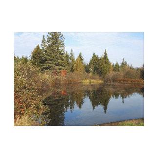 John Brown Farm Historic Adirondack Autumn Grave Canvas Print