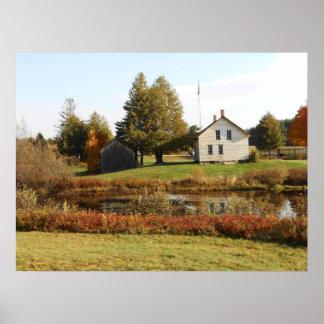 John Brown Farm Historic Adirondack Autumn Grave Print