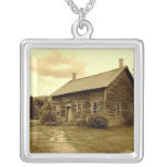 John Brown's House in the Adirondack Mountains Personalized Necklace