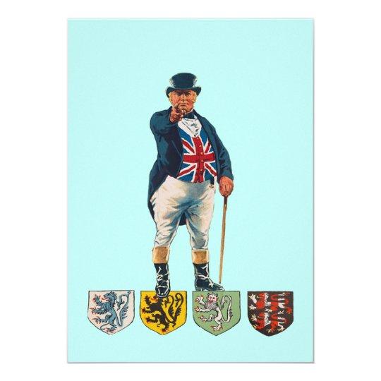 John Bull Victorian Union Jack Illustration Card
