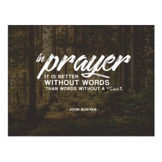 John Bunyan - In Prayer Postcard