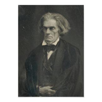 John C. Calhoun by Mathew Brady 1849 5x7 Paper Invitation Card