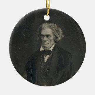 John C. Calhoun by Mathew Brady 1849 Double-Sided Ceramic Round Christmas Ornament
