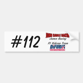 John Cable & James Racing Bumper Sticker Car Bumper Sticker