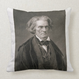 John Caldwell Calhoun, engraved by Henry Bryan Hal Throw Pillow