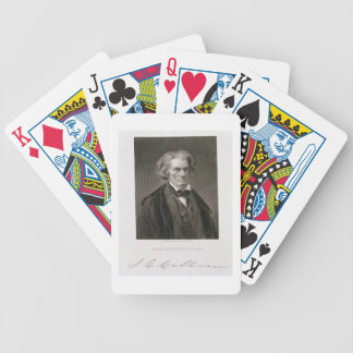 John Caldwell Calhoun, engraved by Henry Bryan Hal Bicycle Playing Cards