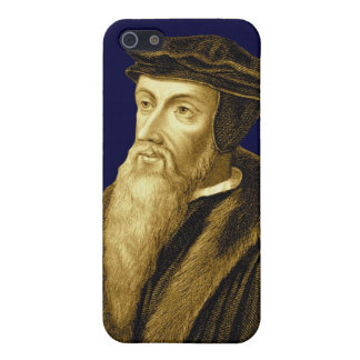 John Calvin iPhone4 Case in Reformation Royal Blue