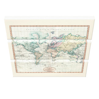 John Cary's 1801 Map - Stretched Canvas Print