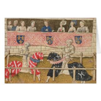 John Chalon of England and Lois de Beul of France Card