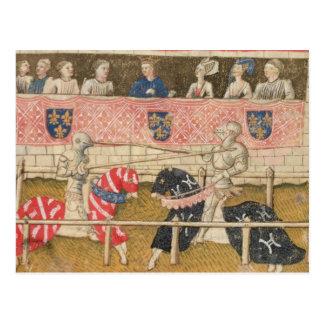 John Chalon of England and Lois de Beul of France Postcard
