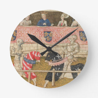 John Chalon of England and Lois de Beul of France Round Clock
