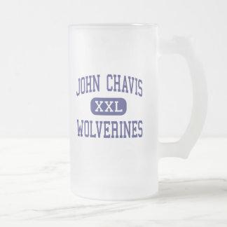 John Chavis Wolverines Middle Cherryville Frosted Glass Beer Mug