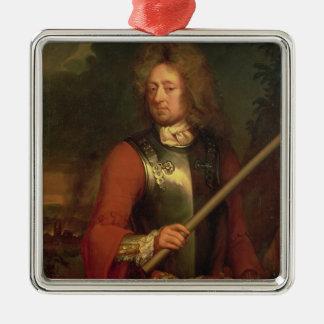 John Churchill  Duke of Marlborough, after 1847 Square Metal Christmas Ornament