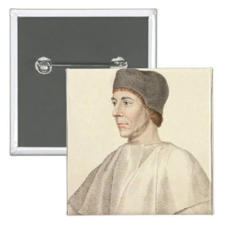 John Colet (c.1467-1519), Dean of St. Paul's engra Button