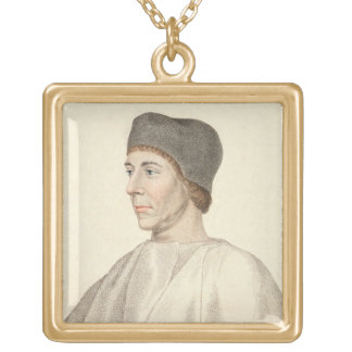 John Colet (c.1467-1519), Dean of St. Paul's engra Gold Plated Necklace
