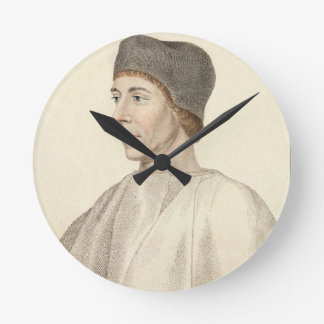 John Colet (c.1467-1519), Dean of St. Paul's engra Round Clock