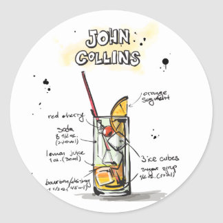 John Collins Classic Round Sticker
