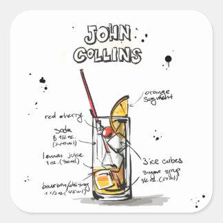 John Collins Square Sticker