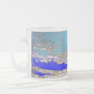 John Constable - A Cloud Study (Modified) Frosted Glass Coffee Mug