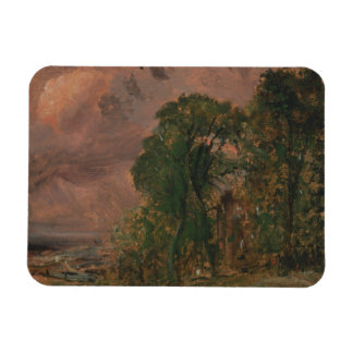John Constable - A View at Hampstead with Stormy Magnet