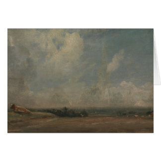 John Constable - A View from Hampstead Heath Card