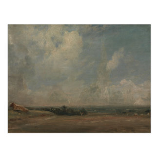 John Constable - A View from Hampstead Heath Postcard