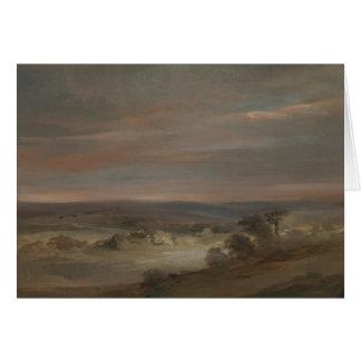 John Constable - A View on Hampstead Heath Card