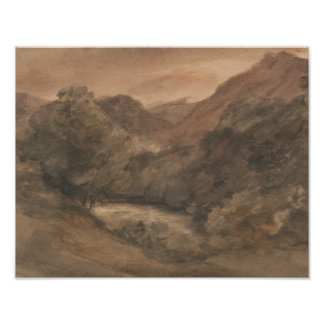 John Constable - Borrowdale- Evening after a Fine Poster
