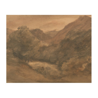 John Constable - Borrowdale- Evening after a Fine Wood Print