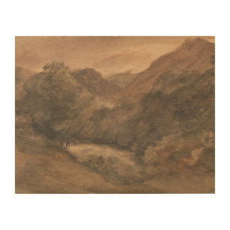 John Constable - Borrowdale- Evening after a Fine Wood Wall Decor