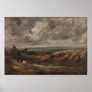 John Constable - brezo de Hampstead Póster