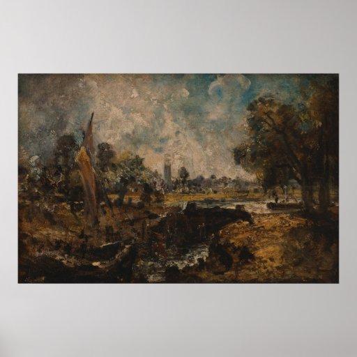 John Constable - cerradura de Dedham Impresiones